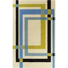 Surya EGK1018-810 Kismet 8' x 10' Rectangle Wool Hand Tufted Geometric Area Rug - Beige