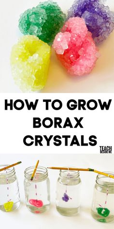 Easy borax crystals science experiment with kids! Diy Crafts For Girls, Fun Diy Crafts, Camping Crafts, Summer Crafts, Diy For Kids, Crafts For Children, Borax Crafts, Cool Crafts For Kids, Arts And Crafts