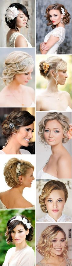 10 Fantastic Wedding Hairstyles for Short Hair   http://www.weddinginclude.com/2016/05/fantastic-wedding-hairstyles-for-short-hair/