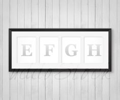 fbe4e1fa65e Black Collage Frames 4 Openings for Wall Art Display by UddoStock