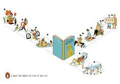 Campaña de fomento de la lectura de Penguin Books. 2011. A book can change the story of your life.