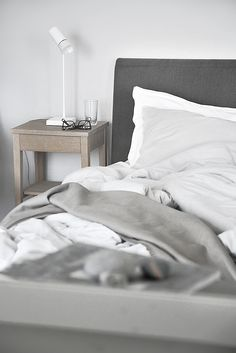 Grey & white bedroom perfection