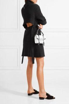 Proenza Schouler - Cutout Ribbed Wool-blend Dress - Black