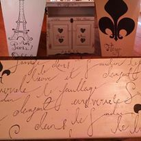 ~ French Cabinet ~ Re-purposed Vintage Artistic & Hand Painted ... https://www.facebook.com/Artsy.Me.by.L.Marie