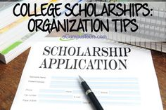 applying for college scholarships: organization tips
