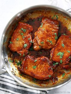 Pork Chop Recipes Maple Balsamic Glazed Pork Chops Easy Cream Of Mushroom Pork Chops Recipe Honey Mustard Grilled Pork Chops Pork Recipes, Lunch Recipes, Dinner Recipes, Cooking Recipes, Pork Meals, Pork Loin Steak Recipes, Quick Pork Chop Recipes, Chicken Recipes, Family Recipes