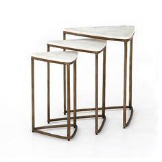 Raine End Tables, Set Of 3-Marble | Memoky.com