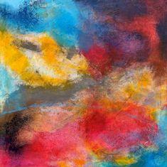 Les Zarts de Béné – Acrylique - 80 x 80 cm Les Oeuvres, Spring, Paint