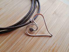 Sweet Little Heart Sterling Silver Wire Pendant by OurBackYard, $7.00