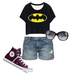 Teen summer by rose-stars on Polyvore featuring polyvore, fashion, style, Current/Elliott, Converse, Bulgari and clothing