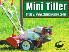 Buy Chandakagro's mini tiller online at lowest price in India. Shop agriculture mini power tiller Online at www.chandakagro.com.mini tiller equipment is two-wheeled farm equipment that is fitted with a rotary tiller that performs smoothly all farm operations. Mini tiller provides efficient working in paddy and wet fields. Buy mini tillers at best price contact us +91-9414481649 enquiry@chandakagro.com #MiniTiller Mini Tiller, Power Tiller, Power Sprayer, Spray Hose, Car Washer, Rotary, Lawn Mower, Outdoor Power Equipment, Agriculture