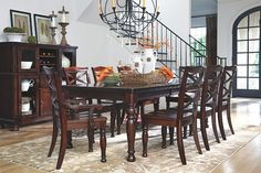 Rustic Brown Porter Dining Room Server View 4