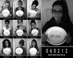 Not with Plates, but cool Idea #MugShots #BacheloretteParty