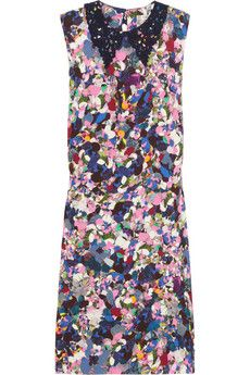 Loreali floral-print silk dress by Erdem