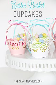 DIY easter basket cupcakes - these are adorable!