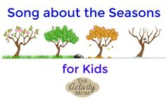 Here is a Seasons Song that is perfect for children of all ages and can be used during calendar time or with a Seasons unit. Spring Songs For Kids, Winter Activities For Kids, Toddler Learning Activities, Rainy Day Activities, Summer Activities For Kids, Holiday Activities, Kids Songs, Toddler Preschool, Diy For Kids