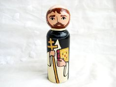 Saint / St. Dominic Wooden Peg DollMade to by ThisLittlePeggy, $28.00