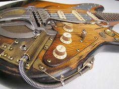 Steampunk Electric Guitar - Tony Cochran Custom Electric Guitars... very beautiful!!!!