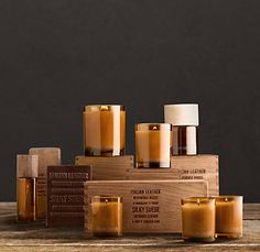leather scented candles!  resto hardware