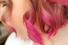 DIY Pink Ombre/Dip Dye - Short Hair / Curls