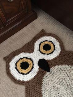 Buho Oval alfombra de ganchillo por PeanutButterDynamite en Etsy
