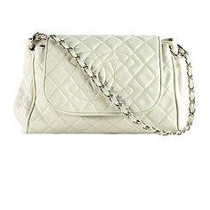Chanel Quilted Caviar Leather Accordion Flap Shoulder Handbag #BBOSBrandBurst
