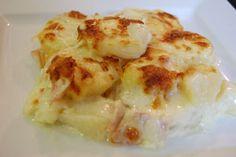 Συνταγή: Πατάτες με μπέικον, κράμα γάλακτος, τυριά