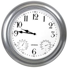 outdoor garden paddington station wall clock 20cm double sided outside bracket outdoor gardens