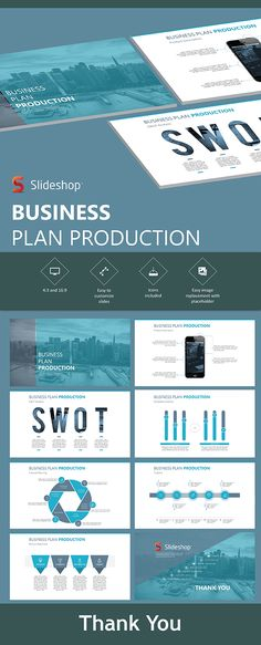 5b0ffcadfbfc Buy Business Plan Production by Slideshop on GraphicRiver. A highly  editable presentation template. Presentation format in .pptx Users will  received two ...