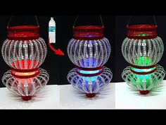 Lantern/Tealight Holder made from waste Plastic Bottle|Best out of waste-Christmas decoration ideas - YouTube