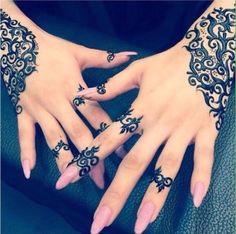 Eid Mehndi-Henna Designs for Girls.Beautiful Mehndi designs for Eid & festivals. Collection of creative & unique mehndi-henna designs for girls this Eid Mehndi Tattoo, Henna Mehndi, Mehendi, Henna Tatoos, Henna Tattoo Designs, Mandala Tattoo, Henna Nails, Mehndi Dress, Henna Designs Easy