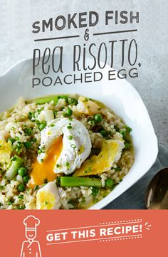 This smoked fish and pea risotto is a classic. The smoky, slightly salty flavour of our smoked basa is perfectly accompanied by our sweet garden peas and spring onions. You\'ll get a perfectly creamy risotto without adding a drop of cream, and the oozing yolk from the poached egg will add a touch of indulgence. Smokin\'!
