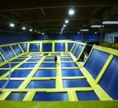 trampolines. everywhere. Seattle Indoor Trampoline Park (Bellevue)