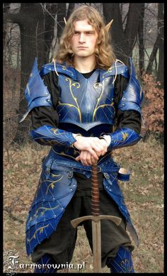 Blue Elven armor 01 by ~farmer-bootoshysa on deviantART