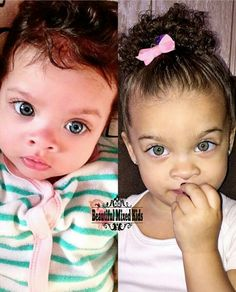 Isabella - 3 Months & 2 Years • Puerto Rican & African American ❤ FOLLOW @beautifulmixedkids on instagram WWW.STYLISHKIDSAPPAREL.COM