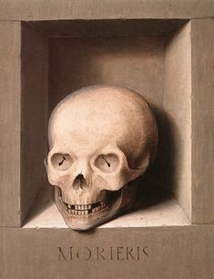 """"""" Hans Memling - St John and Veronica Diptych (reverse of the right and left wing), oil on wood, National Gallery of Art, Washington. Memento Mori Art, Vanitas Paintings, Hans Memling, Vanitas Vanitatum, Saint Jean Baptiste, Dance Of Death, National Gallery, Art Of Manliness, Danse Macabre"""
