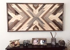 Wood Wall Art Large Decor Rustic Boho Living Room Southwest Gift For Her