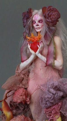 Wish I had dolls like this when I was little. Toy Art, Ooak Dolls, Art Dolls, West Art, Creepy Dolls, Little Doll, Skull Art, Ball Jointed Dolls, Artist Art