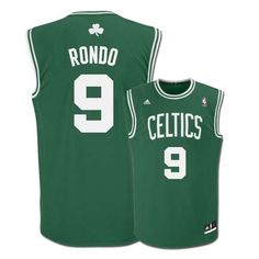 Rajon Rondo Boston Celtics  9 Revolution 30 Replica Adidas NBA Basketball  Jersey (Road Green) 55fb70a7a
