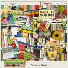tm School Rules by Clever Monkey Graphics