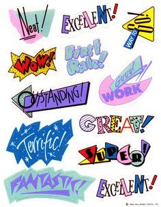 1980's Stickers