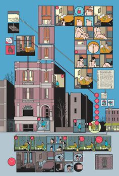 A good example of the fantastic level of layout and detail in Chris Ware's work.