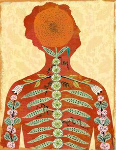 """""""Treating Osteoporosis"""" by Ken Orvidas Illustrations, Illustration Art, Outsider Art, Graphic Design Typography, Crayon, Painting & Drawing, Folk Art, Art Projects, Art Photography"""