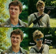 Oh. Thank Newt's mom for da name