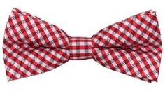 Picnic Bow Tie - Red & White