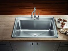 Gorgeous Stainless Steel Drop-In Kitchen Single Bowl Sinks from Types And Models Awesome Kitchen Sinks on Category Kitchen