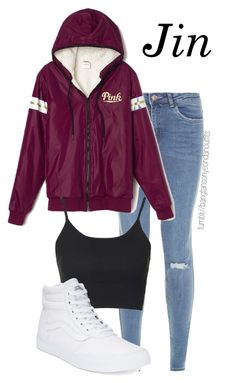 """""""BTS BASKETBALL DATE JIN"""" by bangtanoutfits ❤ liked on Polyvore featuring Topshop, Vans, kpop, bts, BangtanBoys and jin"""