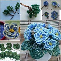 DIY Beautiful Bead Flower Bouquet