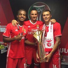 Carrillo, Fejsa e Lindelöf, Benfica (SuperTaça 2016)