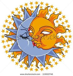 Find sun moon stars stock images in HD and millions of other royalty-free stock photos, illustrations and vectors in the Shutterstock collection. Thousands of new, high-quality pictures added every day. Pictures Of The Sun, Moon Pictures, Moon Pics, Star Images, Sun Moon Stars, Amazing Art, Awesome, Creative Art, Pikachu